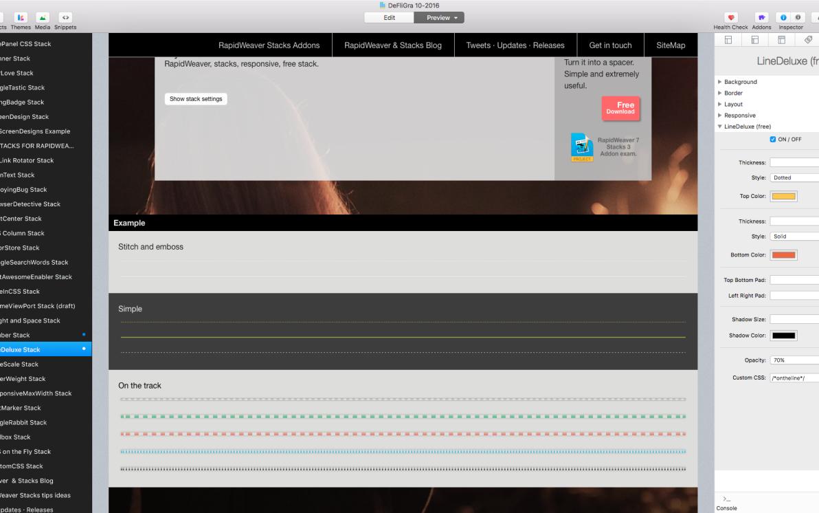 LineDeluxe Stack screenshot