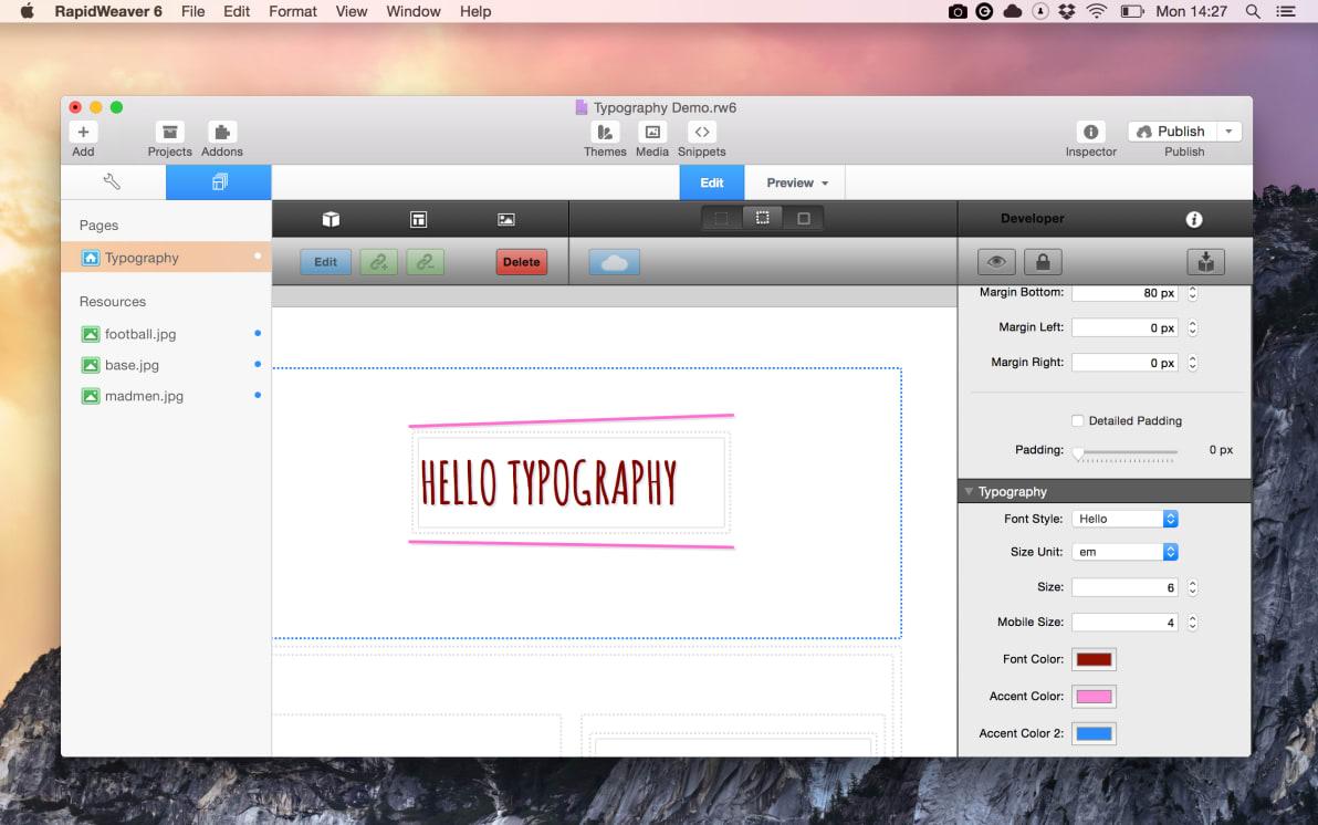 Typography screenshot