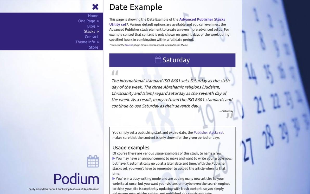 Podium screenshot