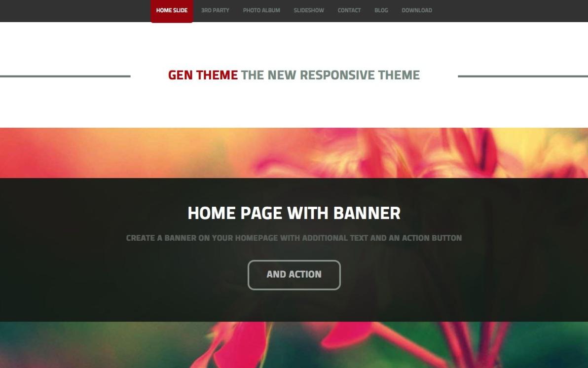 GEN Theme screenshot