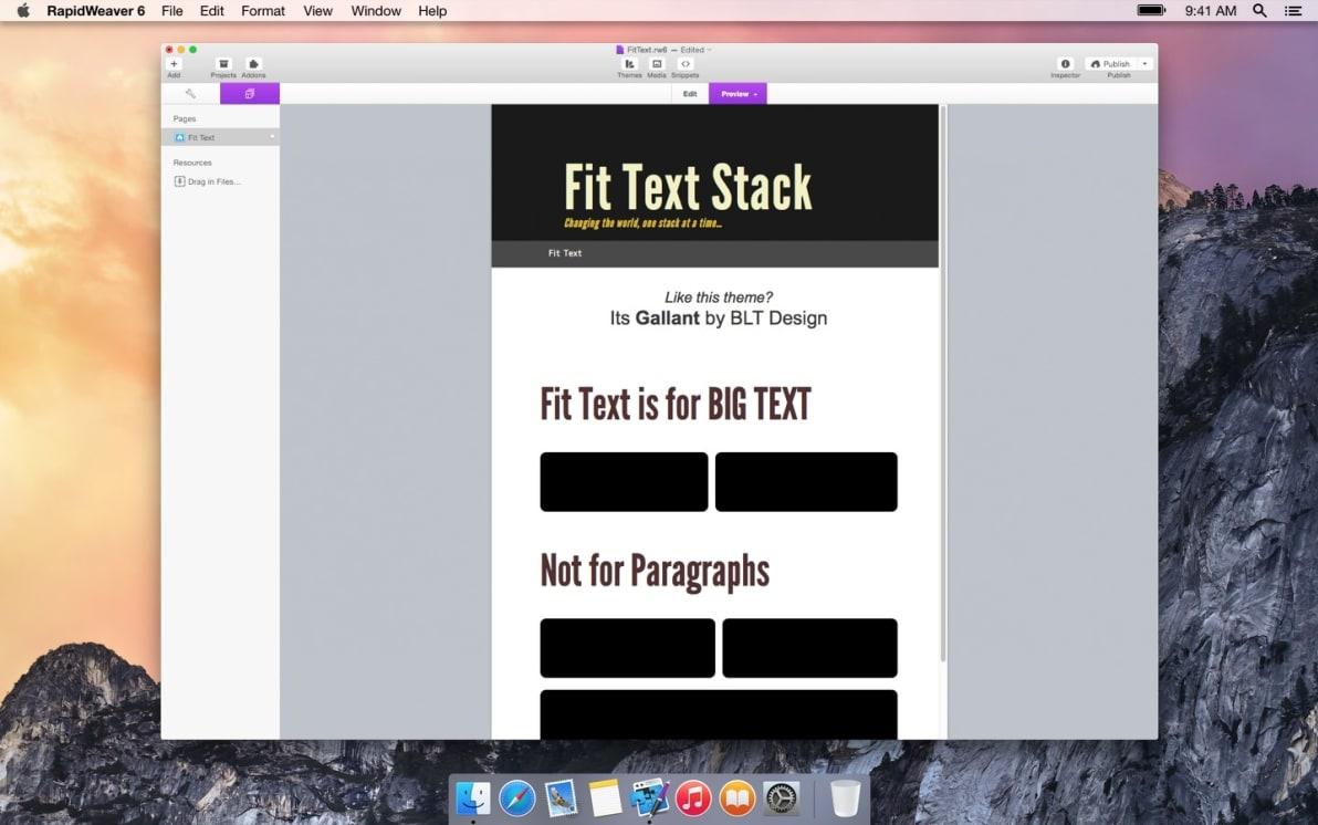 Fit Text screenshot