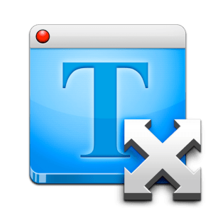 Fit Text icon