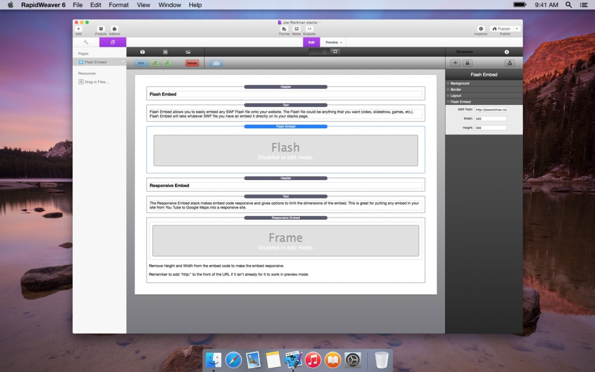 Flash Embed screenshot