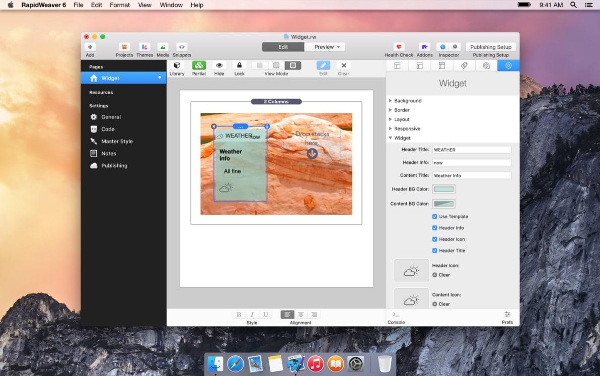 Widget Stack screenshot