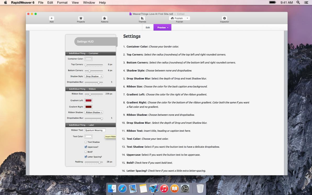 SideRibbonThing screenshot