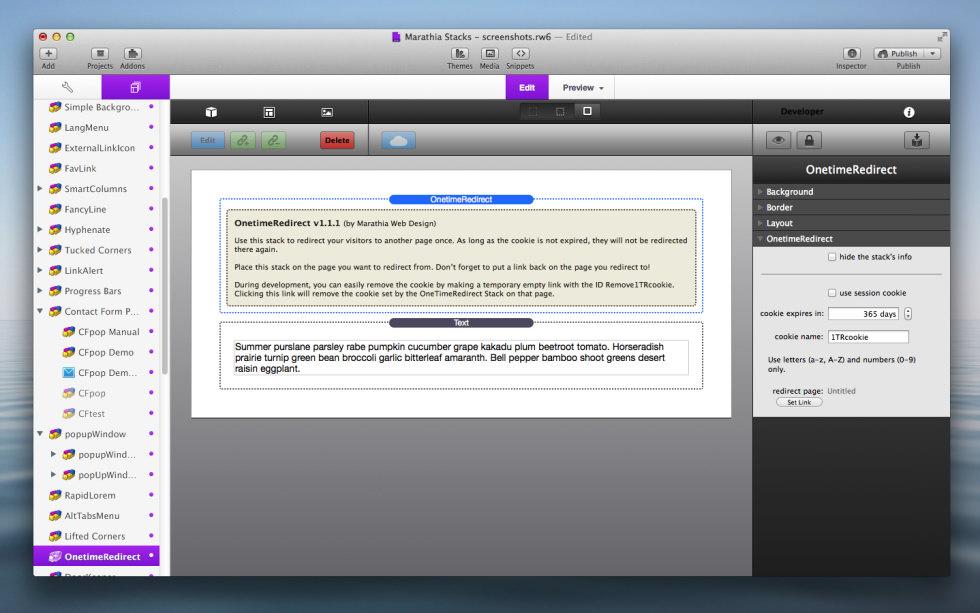OneTimeRedirect Stack screenshot