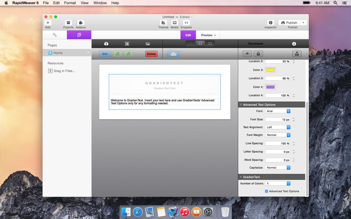 GradienText screenshot