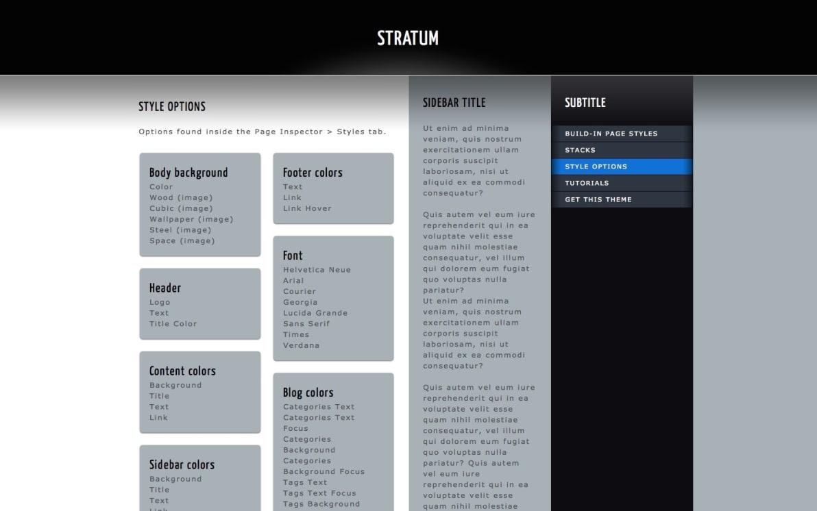 Stratum screenshot