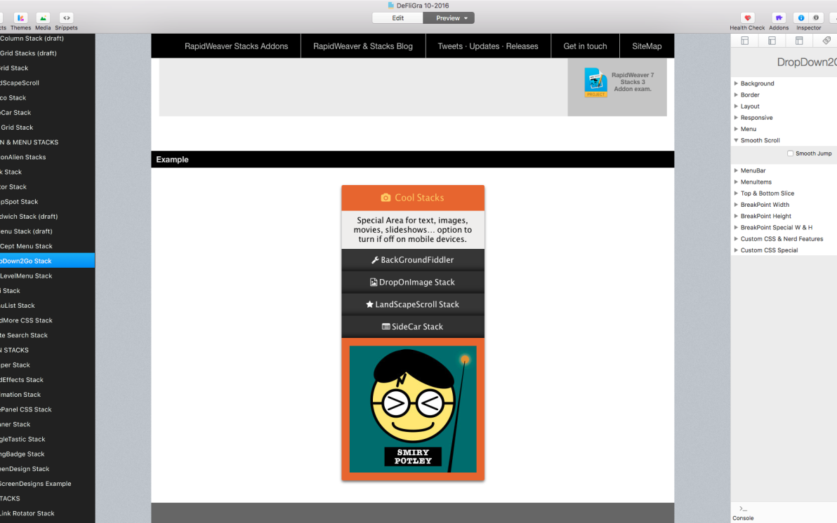 DropDown2Go Stack screenshot