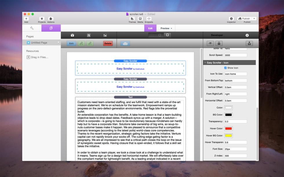 Easy Scroller screenshot