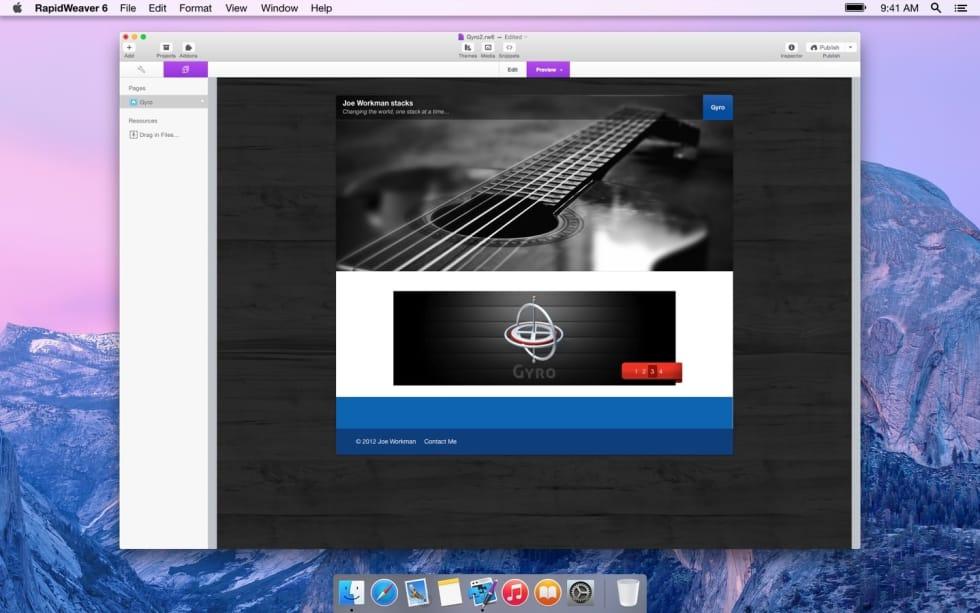 Gyro RapidWeaver Stack by JoeWorkman — RapidWeaver Community