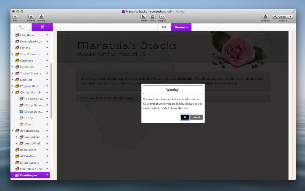 DoorKeeper Stack screenshot