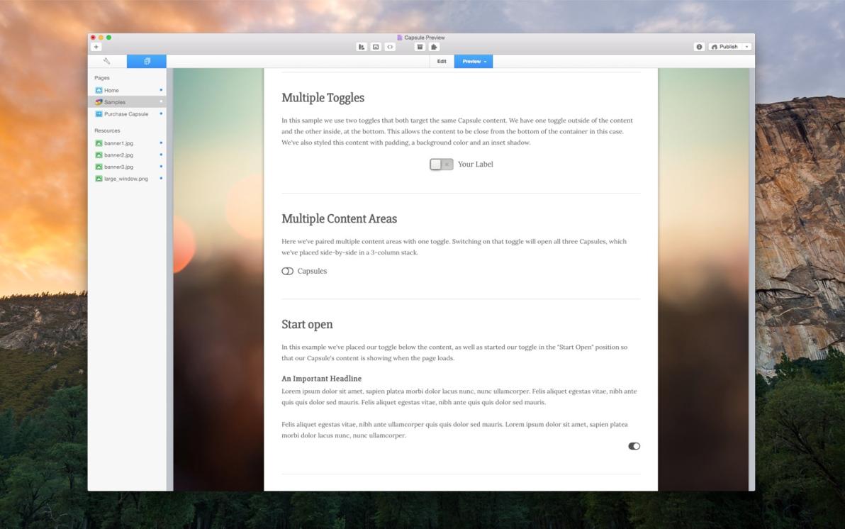 Capsule screenshot