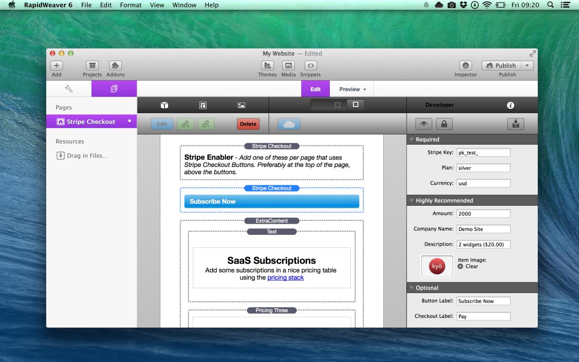 Stripe Checkout screenshot
