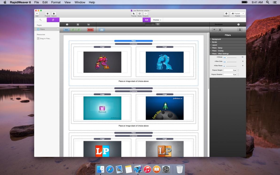 Filters screenshot