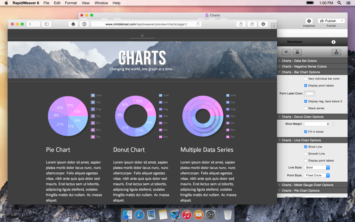 Charts screenshot