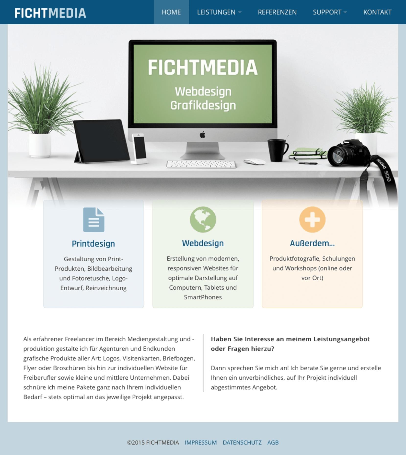 Fichtmedia Print Web Rapidweaver Gallery Rapidweaver