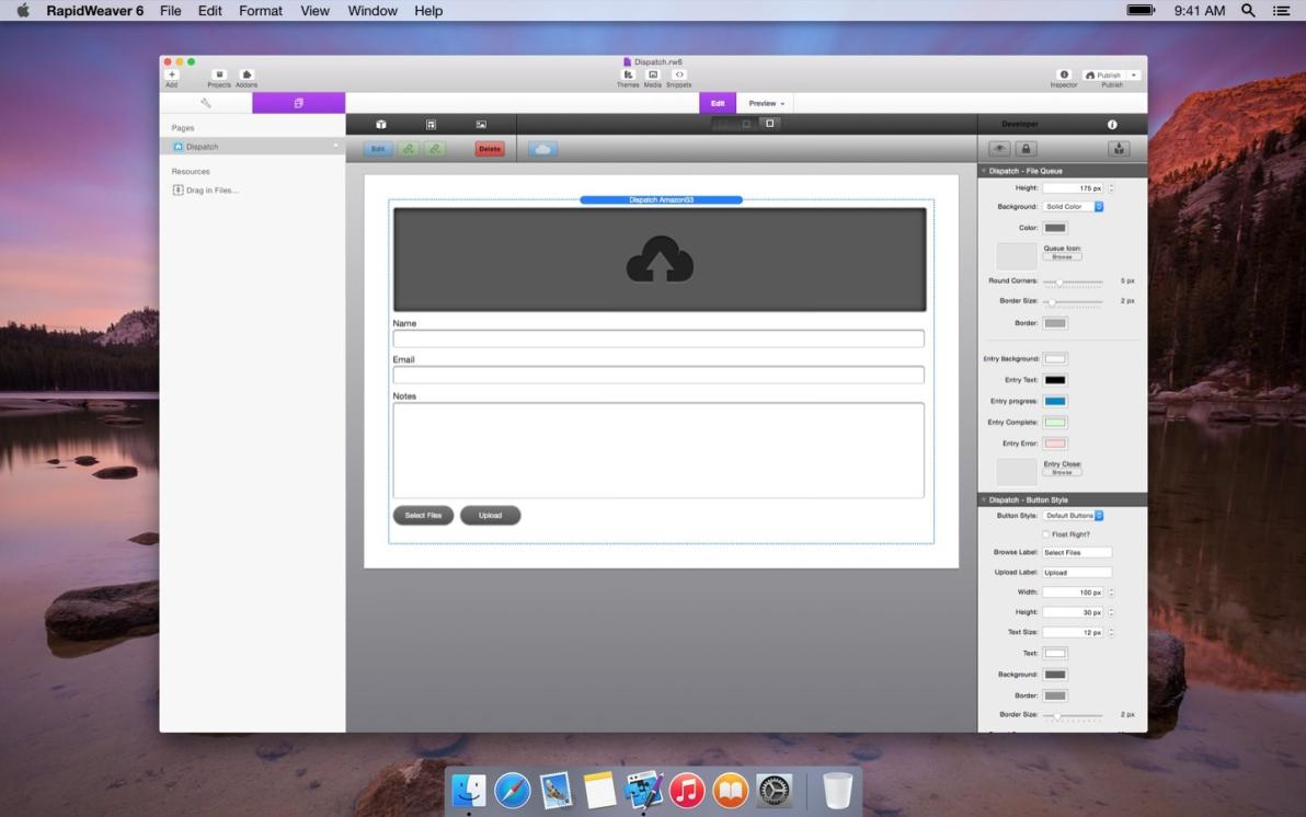 Dispatch Server screenshot