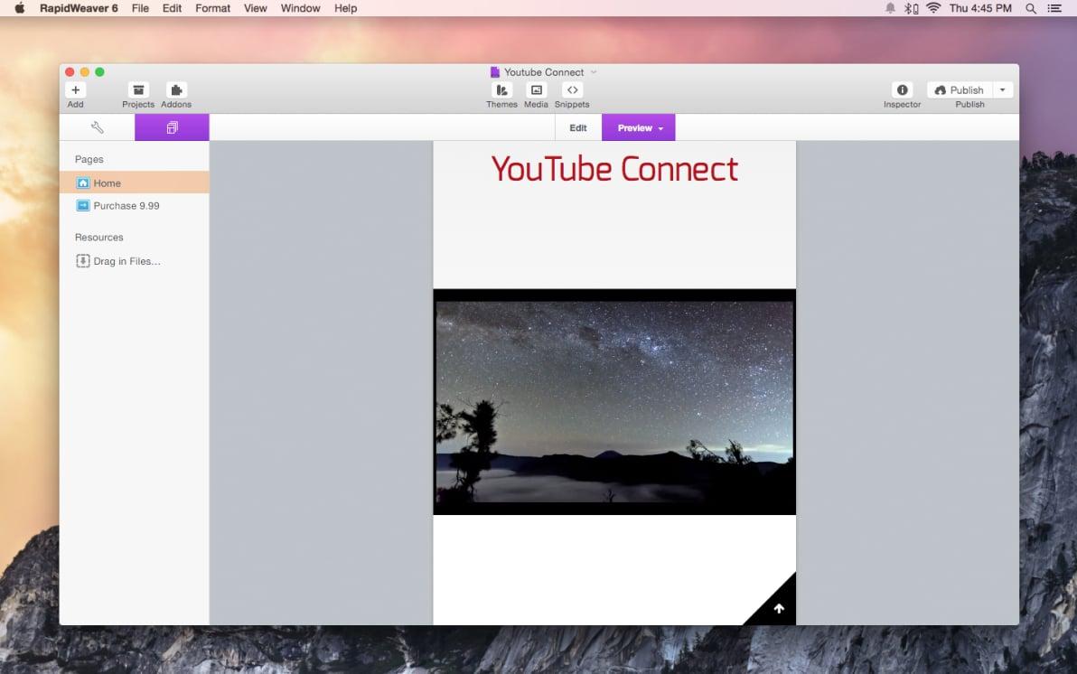 Youtube Connect screenshot