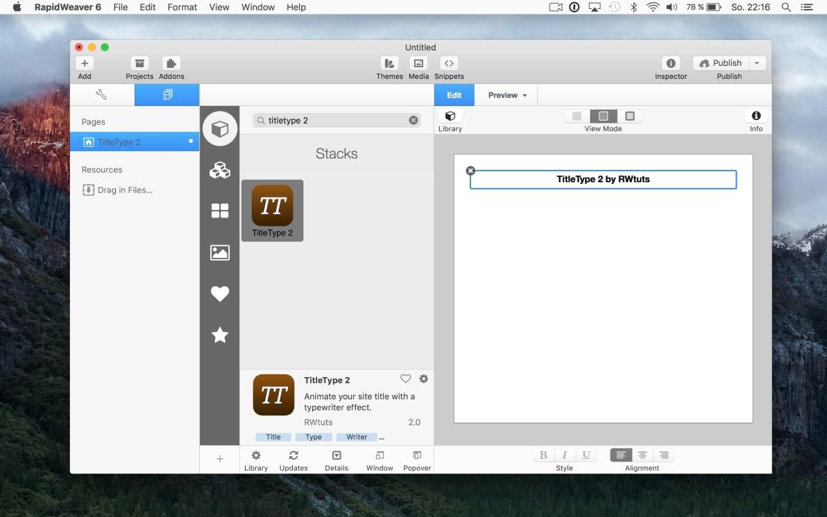 TitleType 2 screenshot