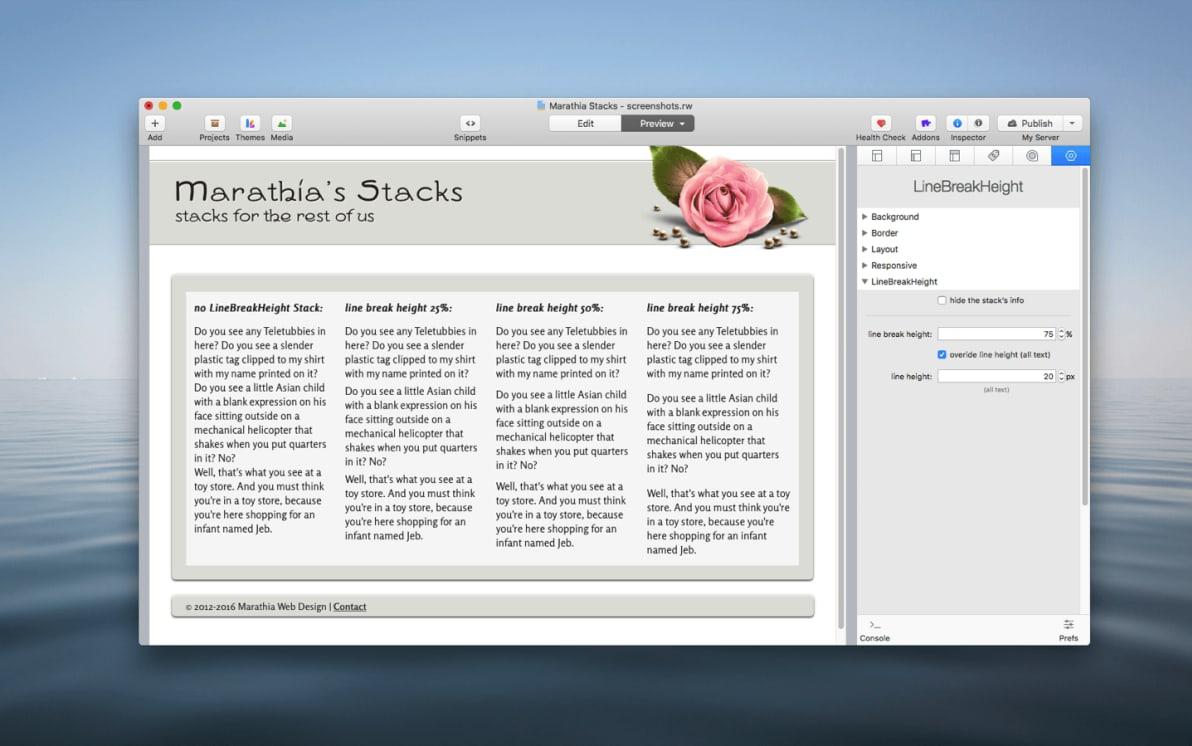 LineBreakHeight Stack screenshot