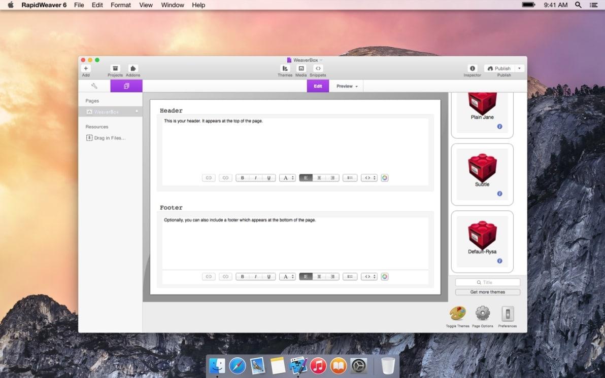 WeaverBox screenshot