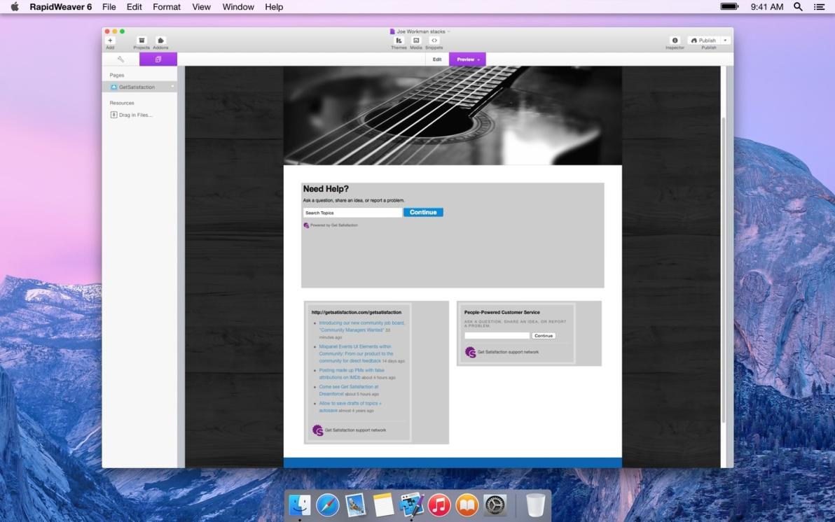 GetSatisfaction screenshot