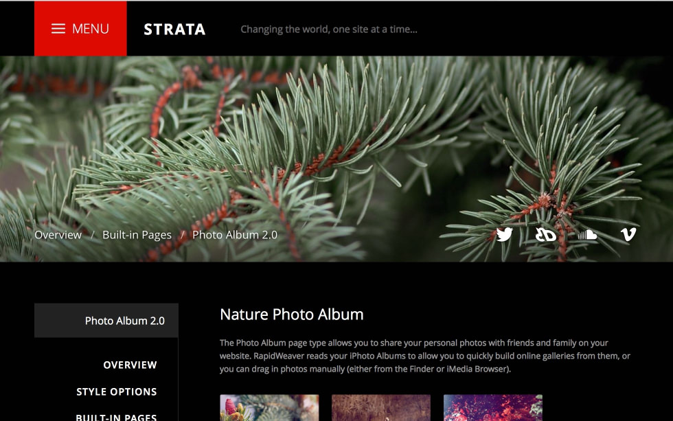 Strata screenshot