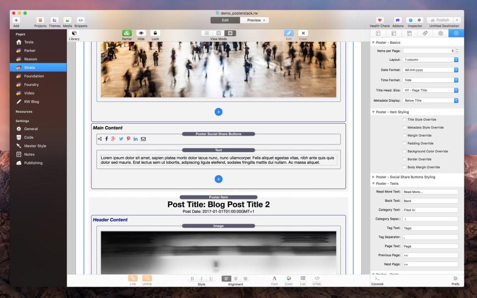 Poster Stack screenshot