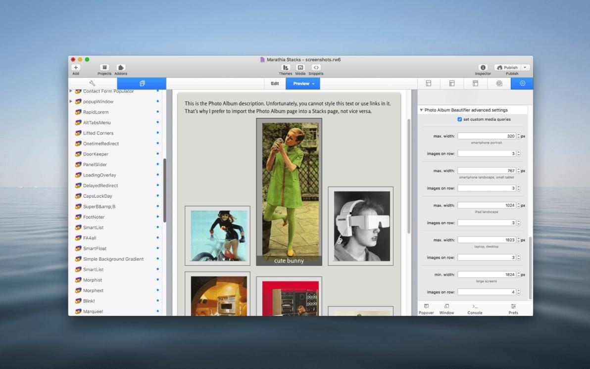 Photo Album Beautifier Stack screenshot