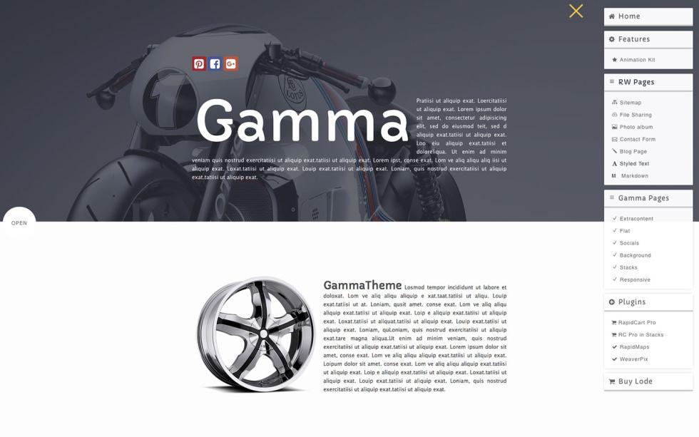 Gamma screenshot