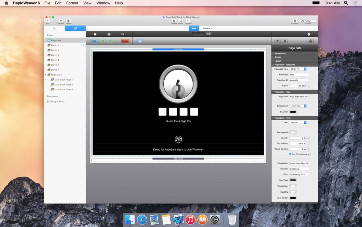 Page Safe screenshot