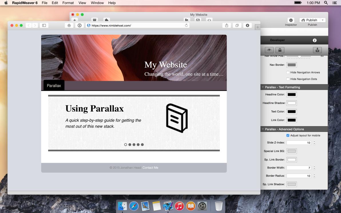 Parallax screenshot