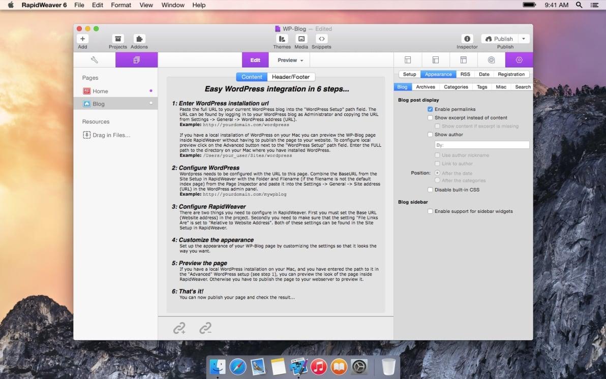 WP-Blog screenshot