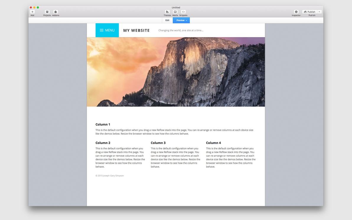 Reflow screenshot