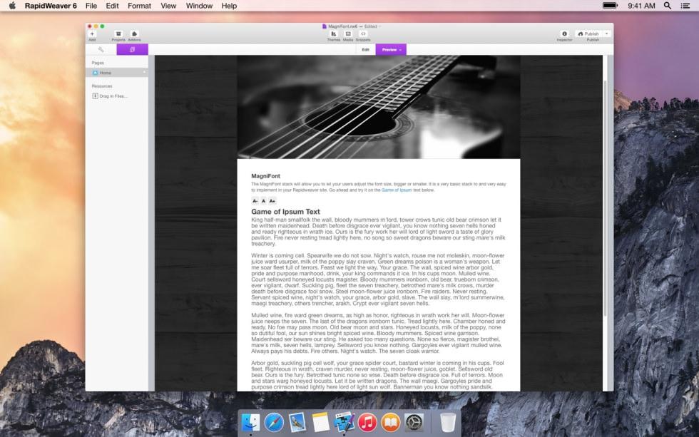 MagniFont screenshot