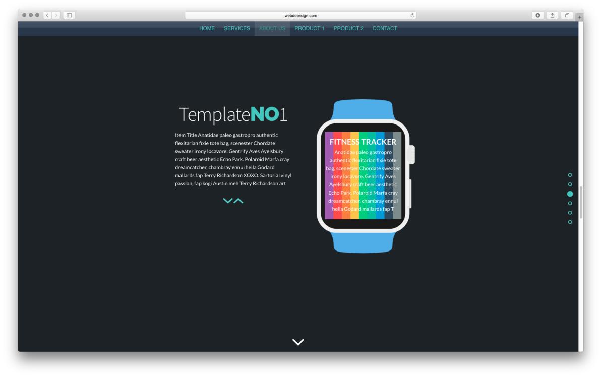 WDS Template 1 screenshot
