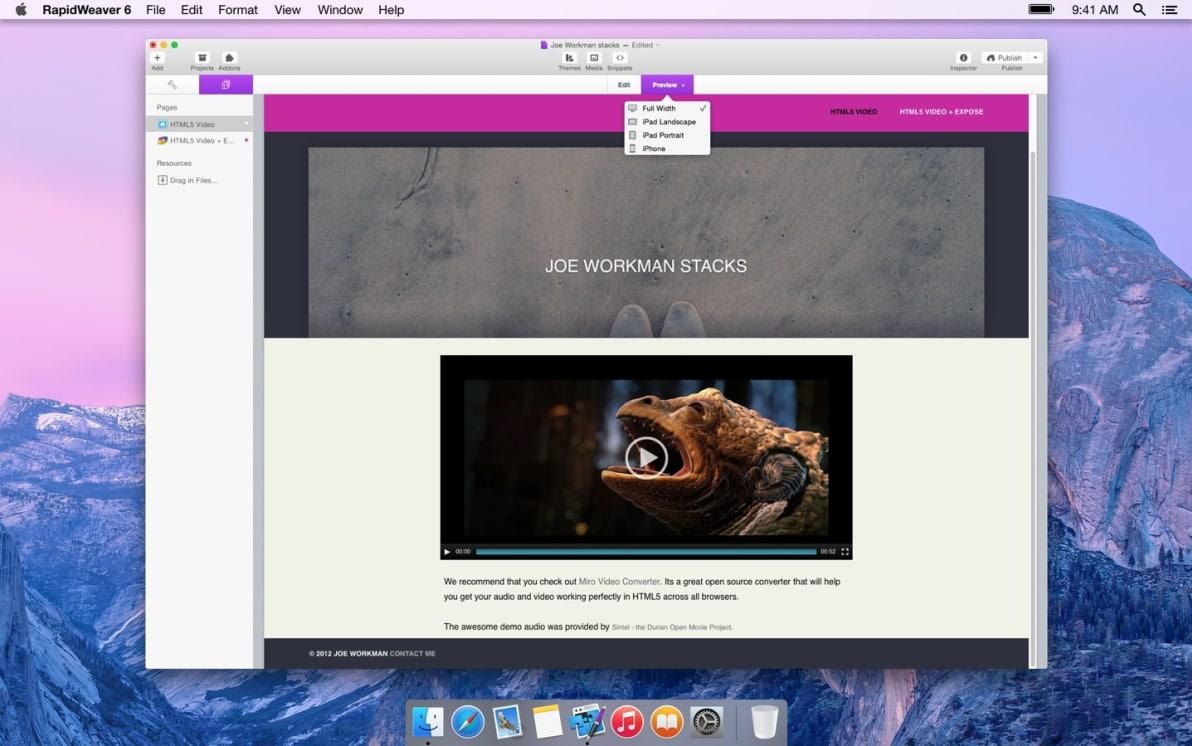 HTML5 Video screenshot