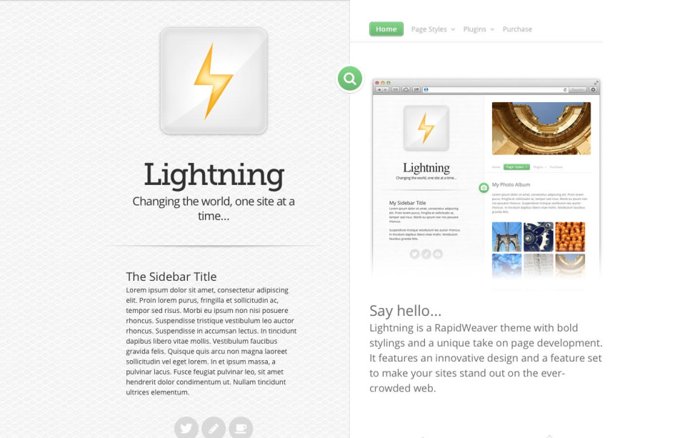 Lightning screenshot