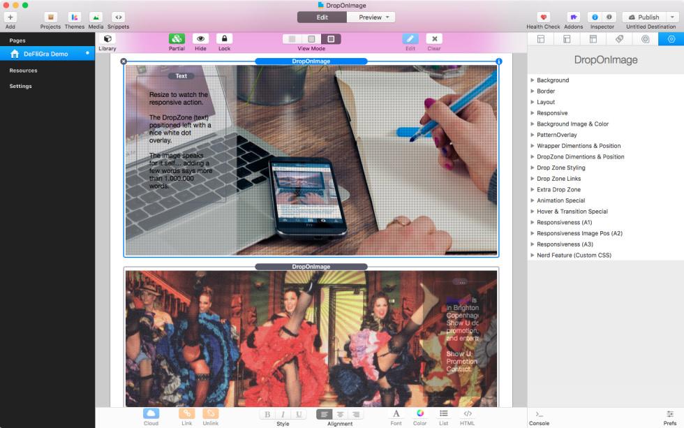 DropOnImage Stack screenshot