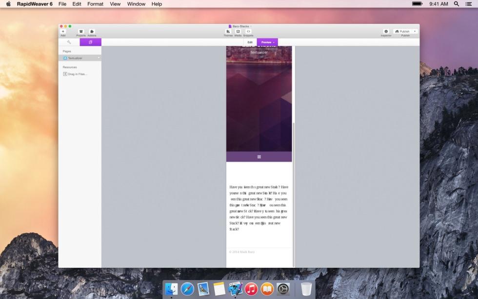 Textualizer screenshot