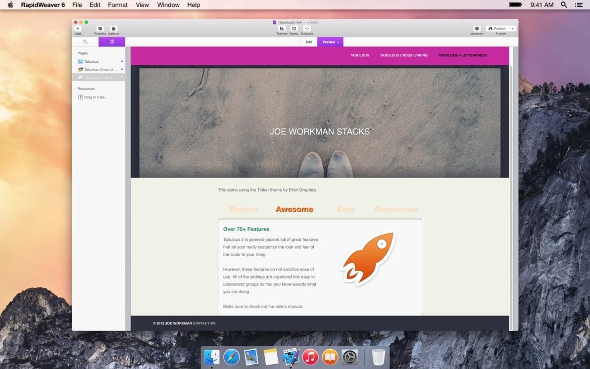 Tabulous screenshot