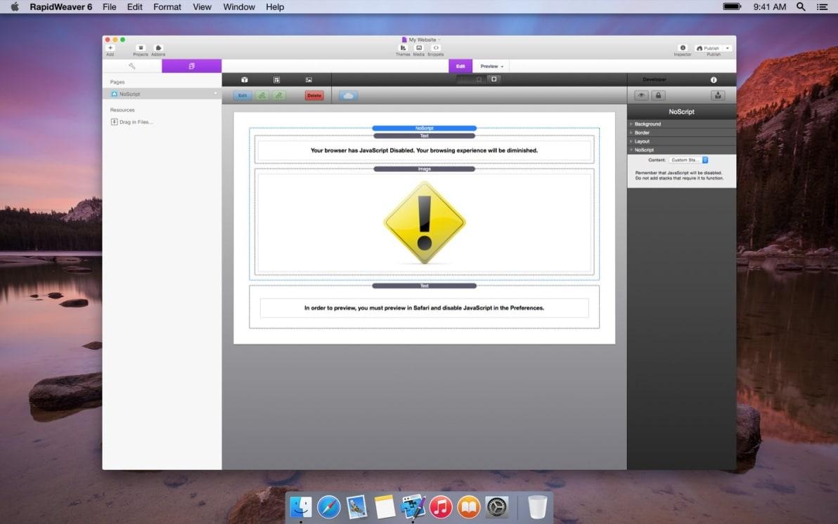 NoScript screenshot
