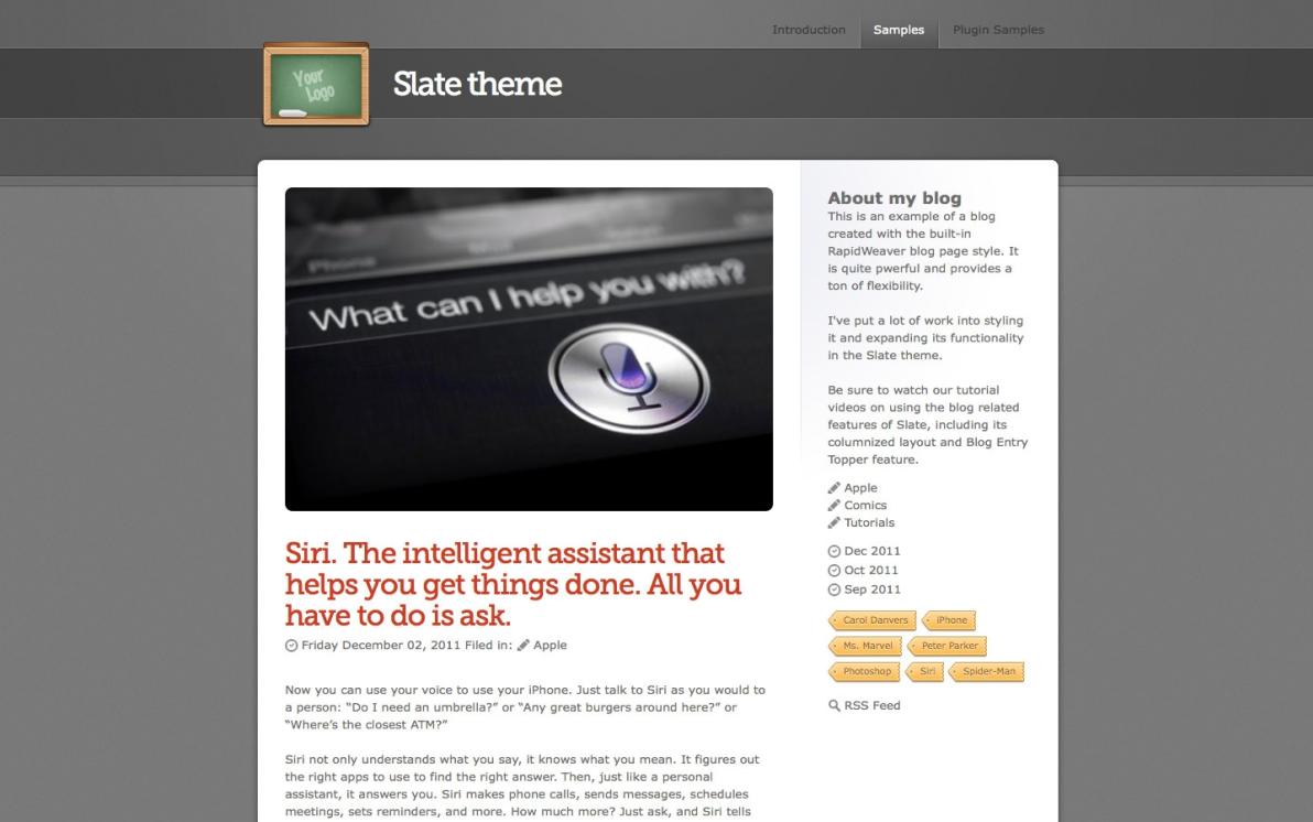 Slate screenshot