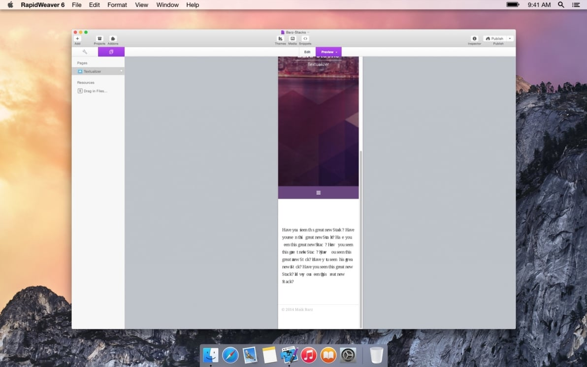 Textualizer screenshot