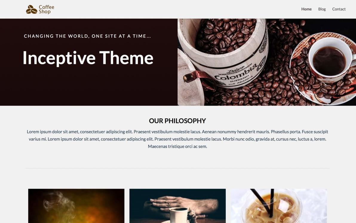 Inceptive Theme screenshot