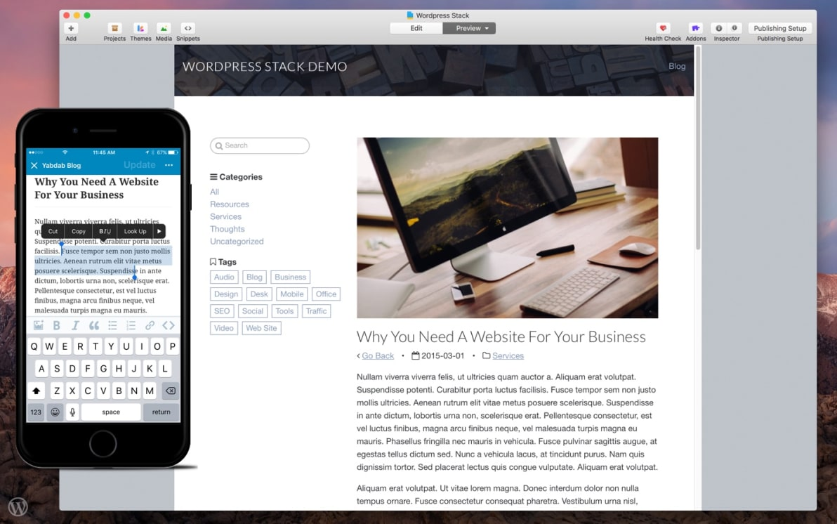 Wordpress Stack screenshot