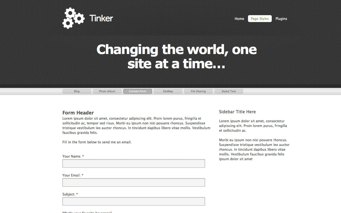 Tinker screenshot