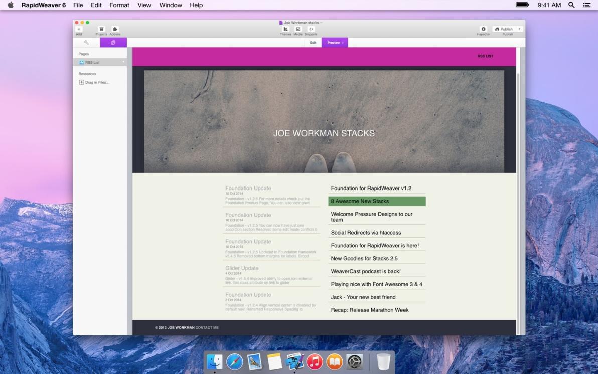 RSS List screenshot