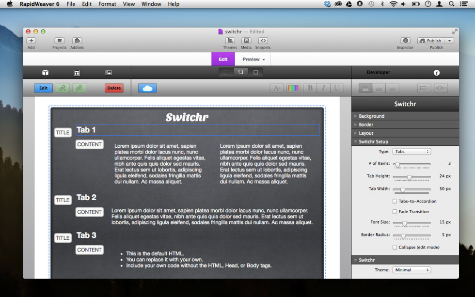 Switcher screenshot